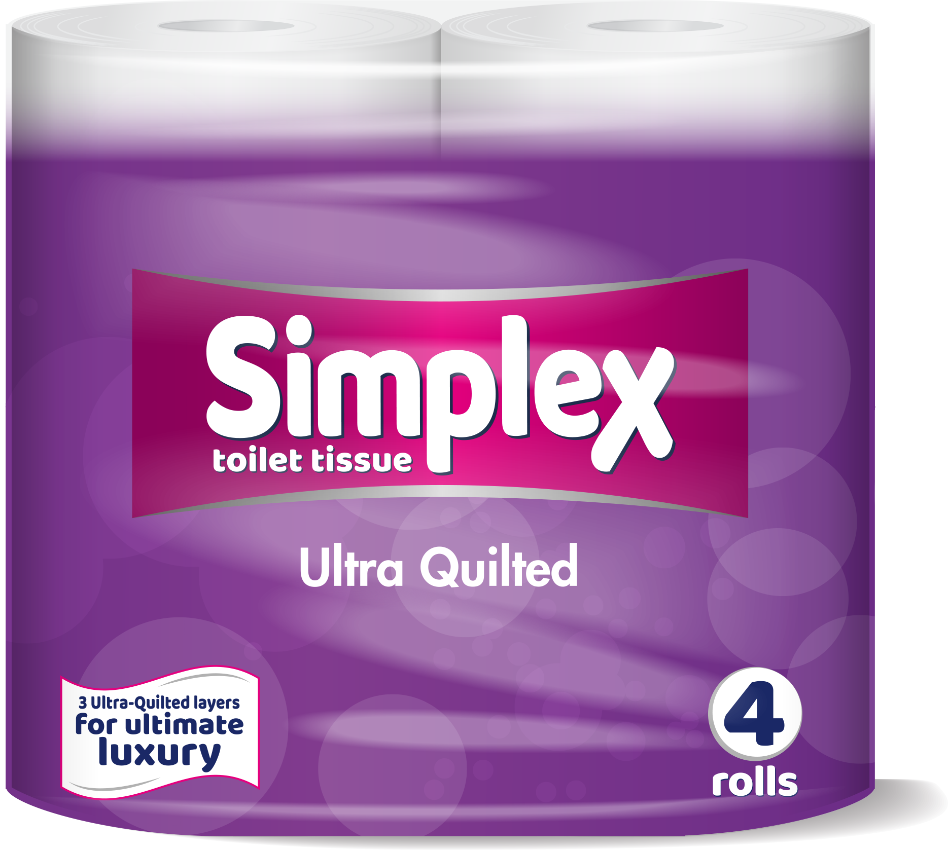 Simplex Ultra Quilted Pure White Toilet Tissue - 10x4 Pack